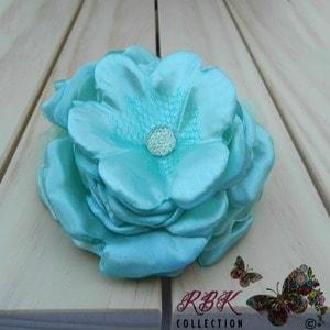 Aqua Flower Hair Clip