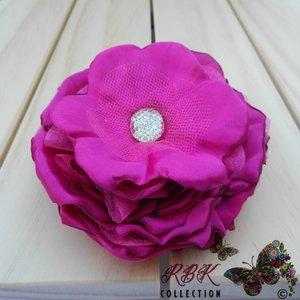 Fuschia Flower Hair Clip