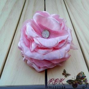 Light pink flower hair clip light pink rose flower hair clip rbk light pink flower hair clip mightylinksfo
