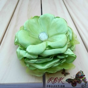 Lime Flower hair Clip