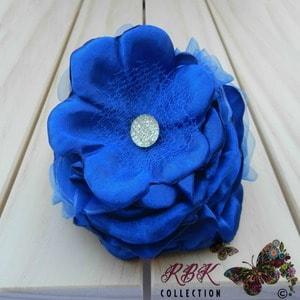 Royal Blue Flower Hair Clip
