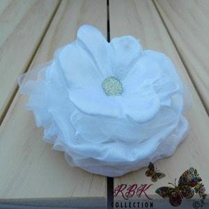 White dress up flower hair clip white rose hair clip rbk collection white flower hair clip mightylinksfo