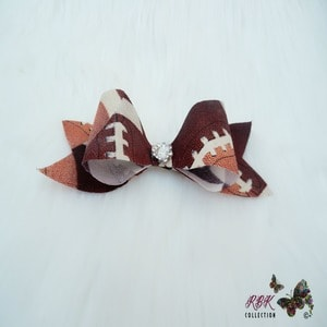 American Football Hair bow Clip