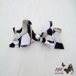 soccer hair bow clip